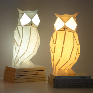 We Create Origami-Inspired Paper Lamps Of Animals