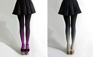 Ombre Tights Hand-Dyed By Tiffany Ju