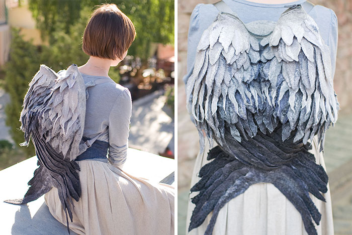 We Felted A Backpack That Gives You Wings