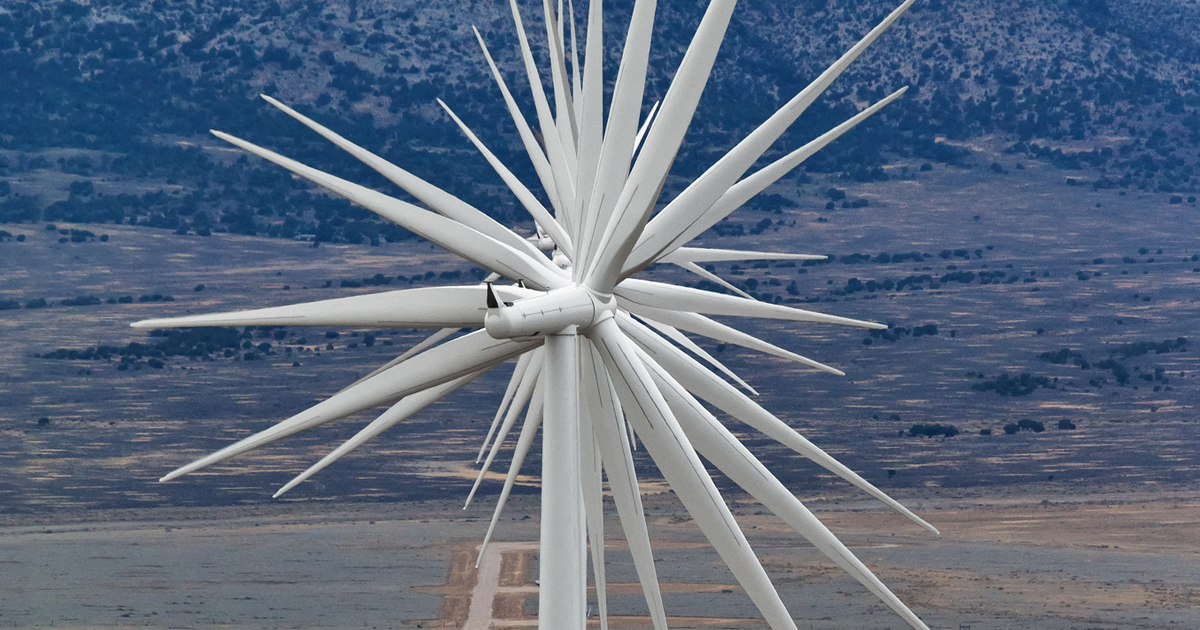 14 wind turbines aligned in a row in nevada bored panda