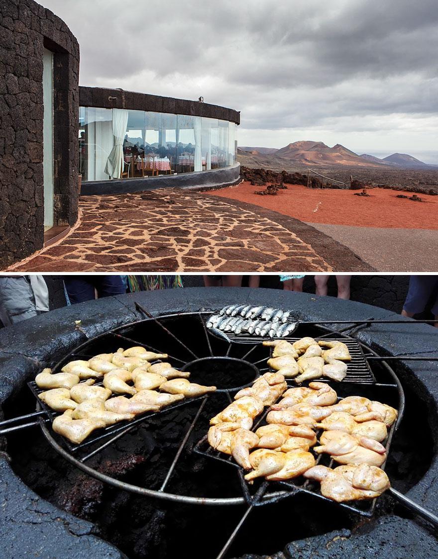 Your Meal Is Grilled Over A Volcano, El Diablo, Lanzarote, Spain