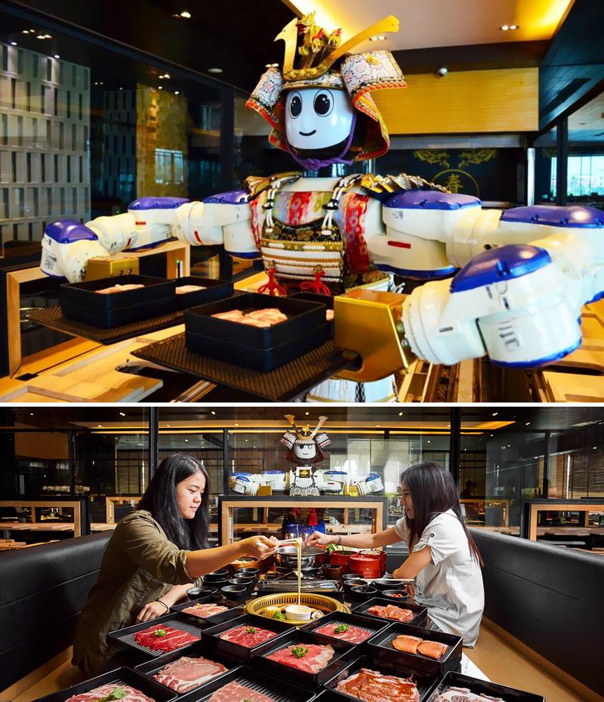 Meals Served By A Robot, Hajime Robot Restaurant, Bangkok, Thailand