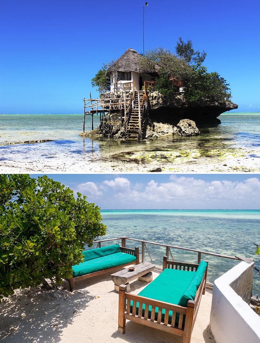 Dine With Breathtaking Views Of Indian Ocean, The Rock, Michamvi Pingue, Zanzibar