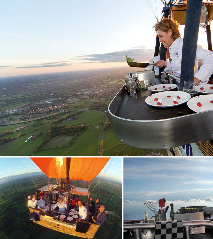 World's Only Hot Air Balloon Restaurant, Culiair, Netherlands