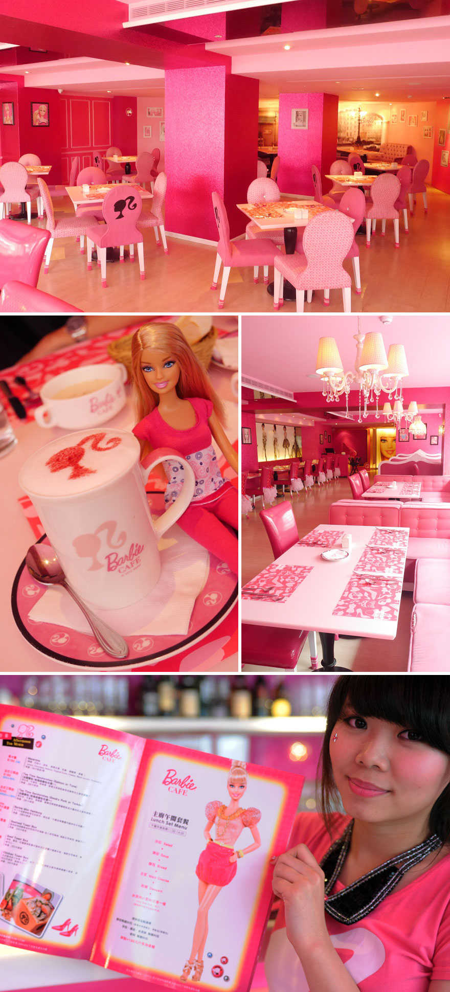Barbie Cafe In Taipei, Taiwan