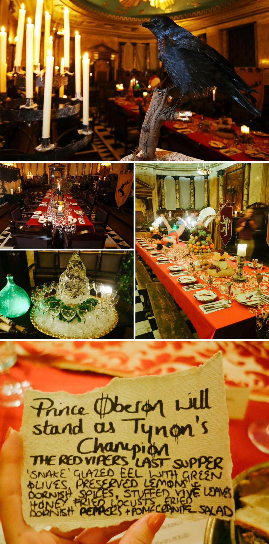 Game Of Thrones Feast, All Men Must Dine Pop-up Restaurant, London, UK