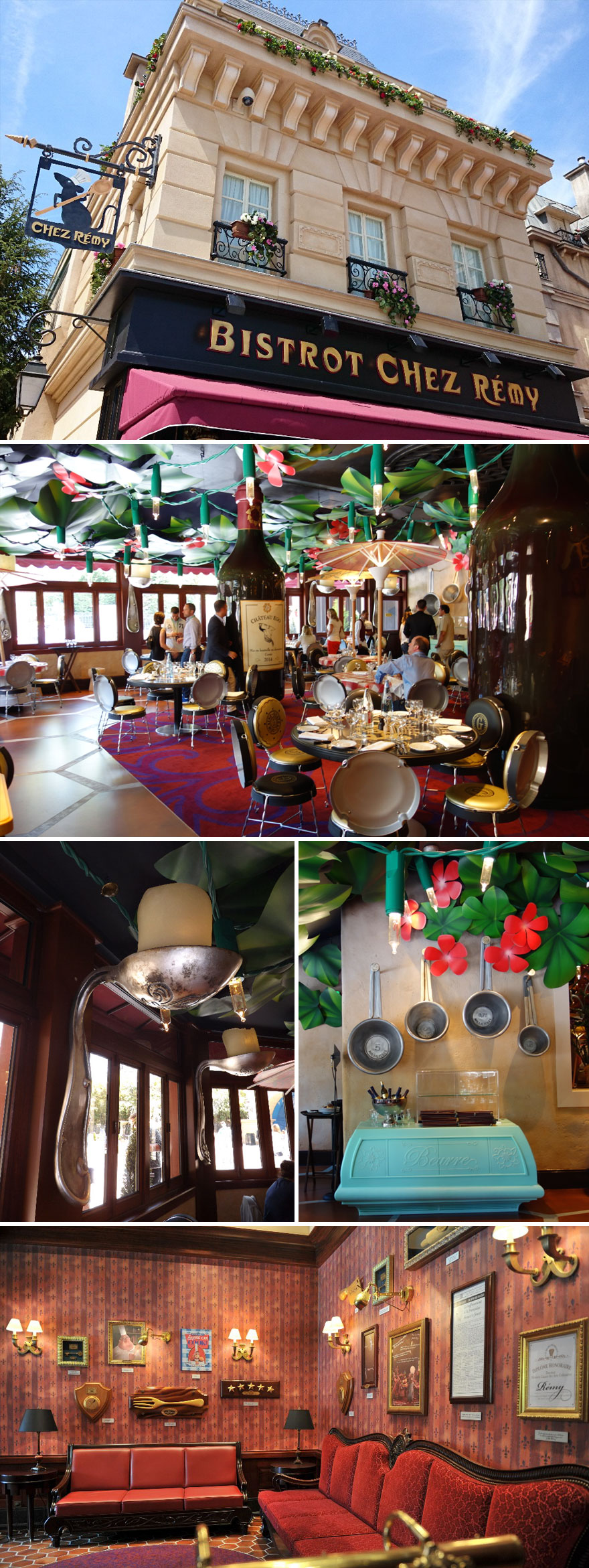 Ratatouille Themed Restaurant, Bistrot Chez Rémy, Disneyland Paris, France