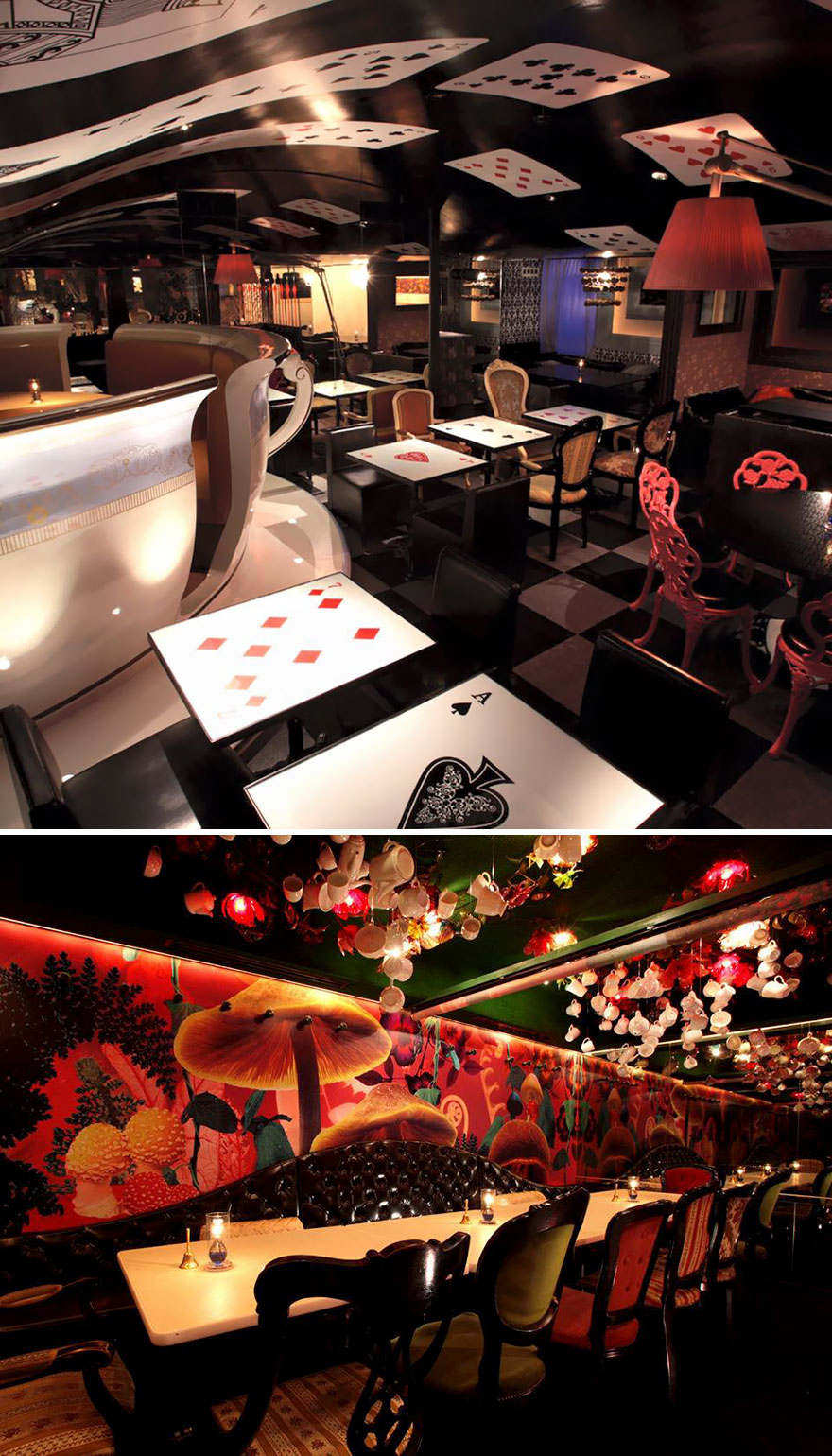 Dine In A Magical Alice World, Alice In A Labyrinth, Tokyo, Japan