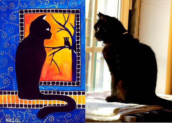 At Halloween I Commemorate My Black Cat, Rebeka