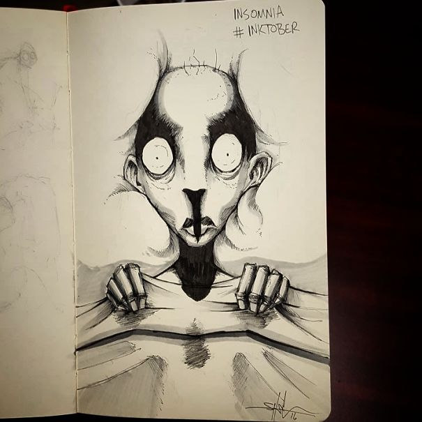 Artist With Autism Illustrates >> I Illustrated Mental Illness And Disorders For Inktober Bored Panda