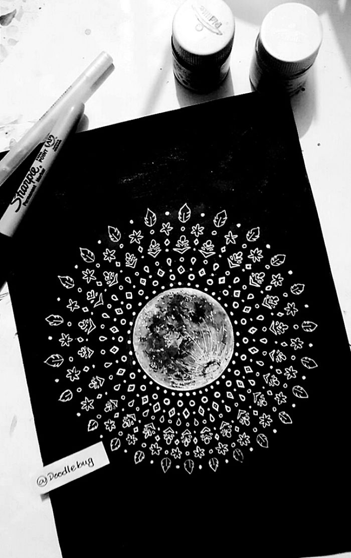 Quick Doodle: The Sun, The Moon, & The Stars.