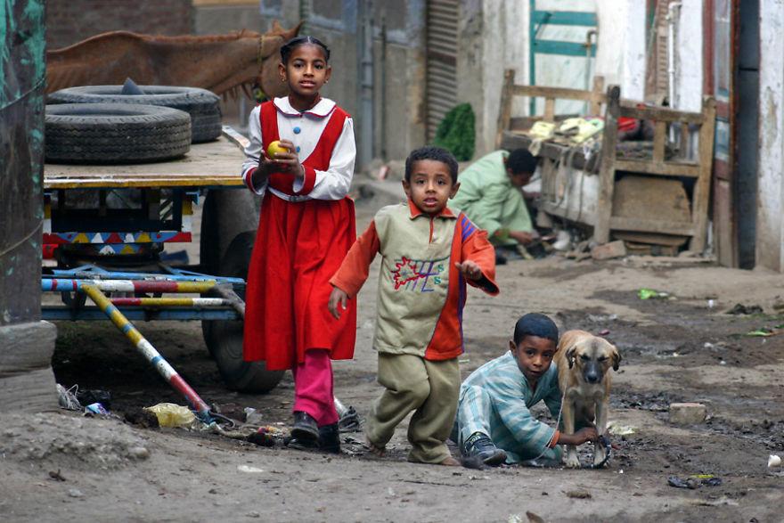 En las calles de Esna, Egipto