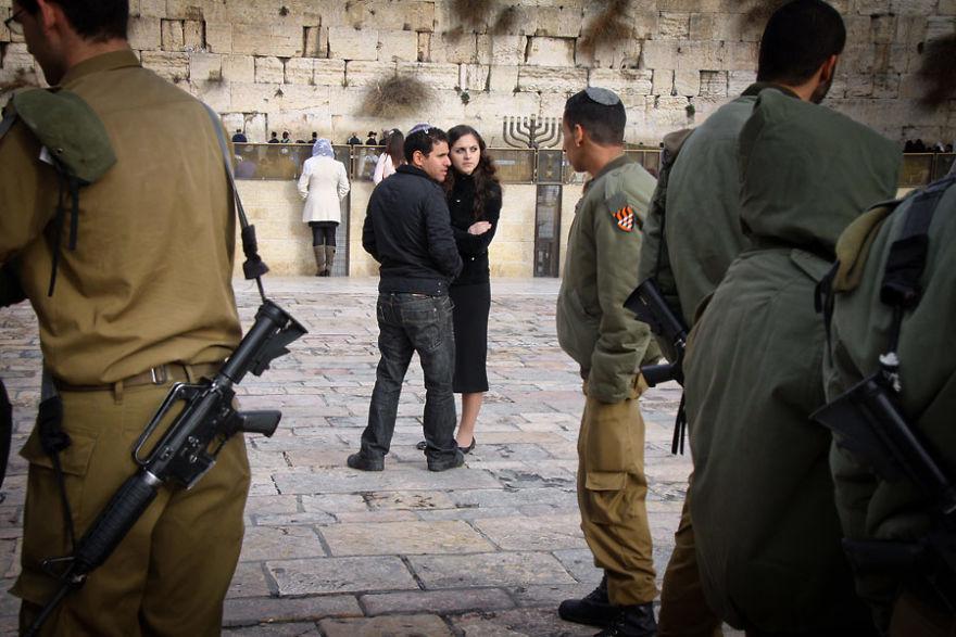 En frente de la pared que se lamenta, Jerusalén