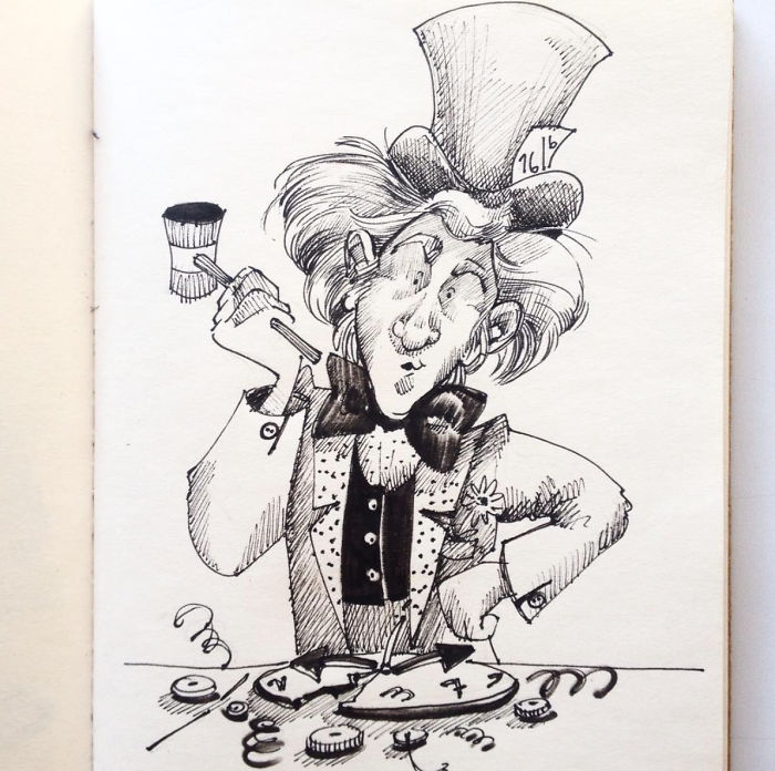 I'm Doing A Drawing A Day About Alice In Wonderland