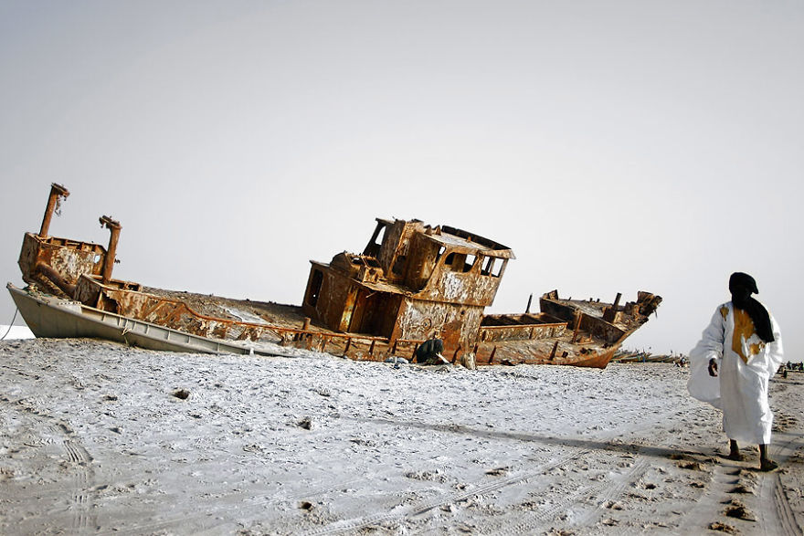 Rusted Ship On The Beach Of Nouakchott, Mauritania