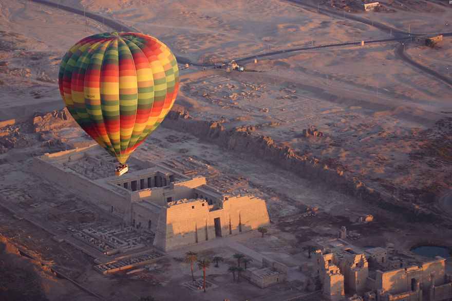Balloon Overview Of The Valley Of The Kings At Sunrise, Egypt