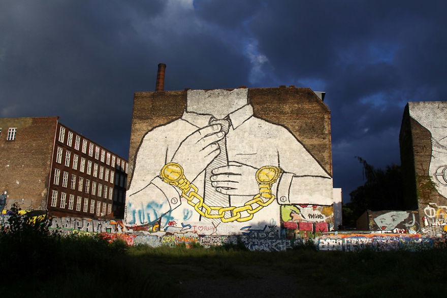 Blu Mural On An Old Abandoned Factory In Cuvrystraße In Kreuzberg