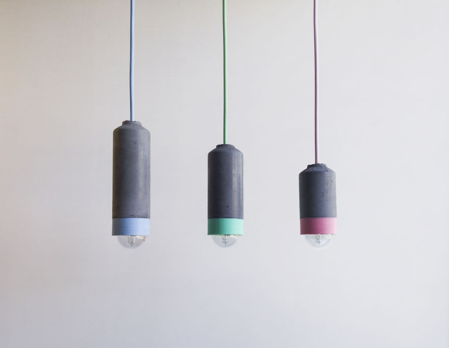 Concrete And 3d Printed Pendants