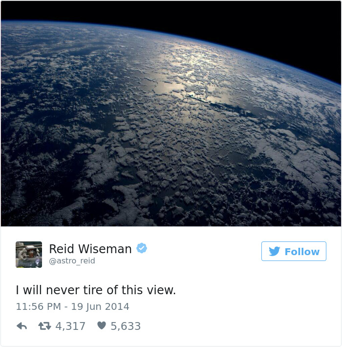 Astronaut's Tweets From Space Show That It's The Best Job ...
