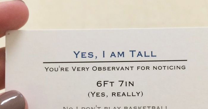 Super Tall 17 Year Old Is Handing Out Business Cards To