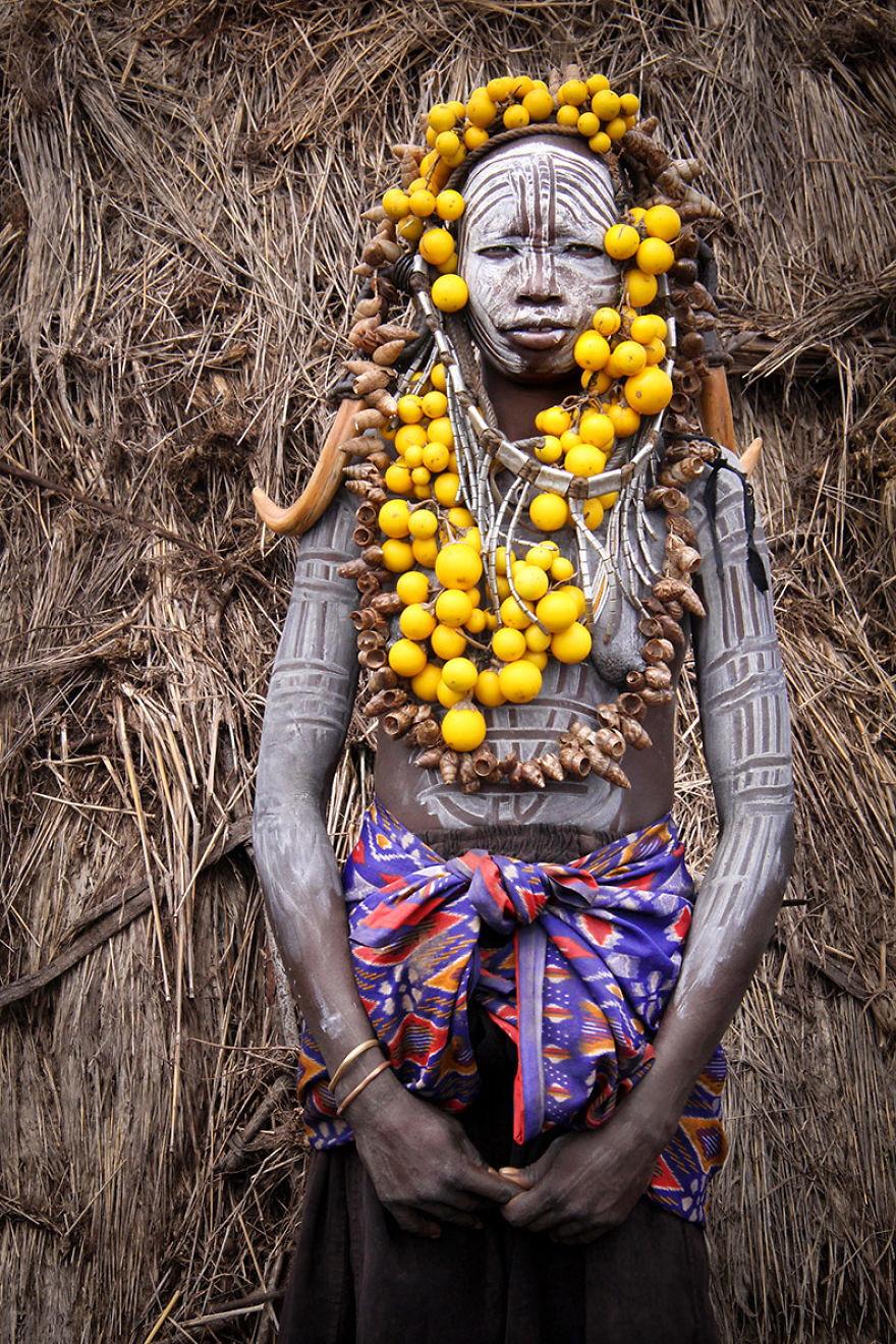 Mursi Woman In The Omo Valley, Ethiopia