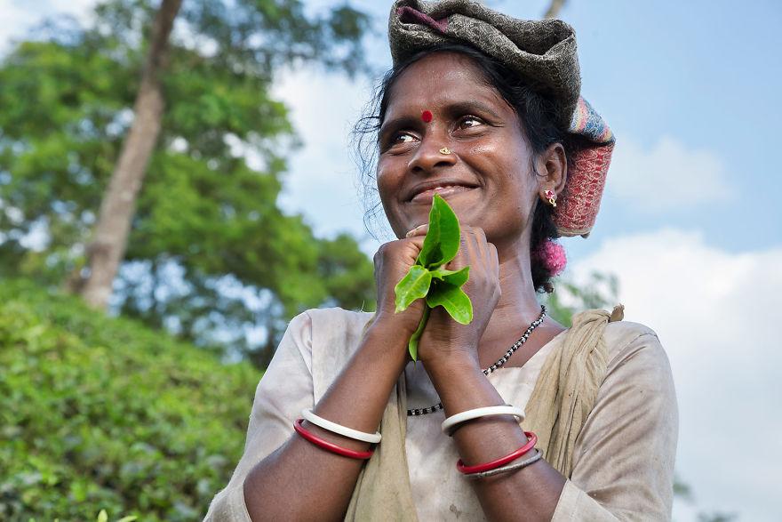 Una mujer de Srimangal, Bangladesh