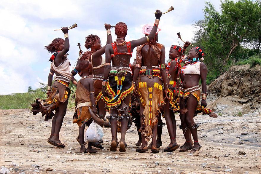Ritual Dance, Hamer People, Ethiopia