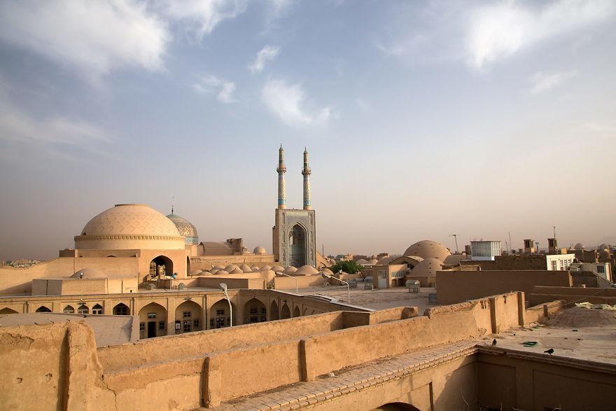 Sunrise On Masjed Jame, Yazd, Iran