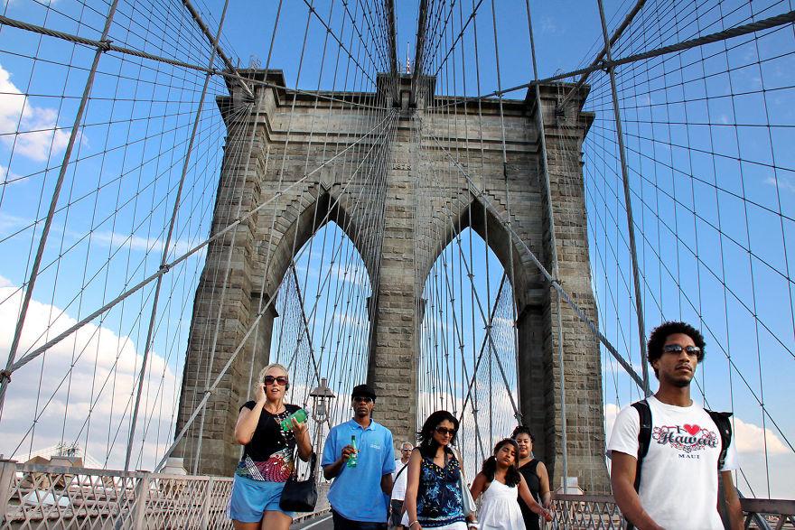Walk On The Brooklyn Bridge, NYC