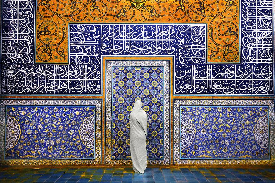 A Woman In Sheikh Lotfollah Mosque, Isfahan, Iran