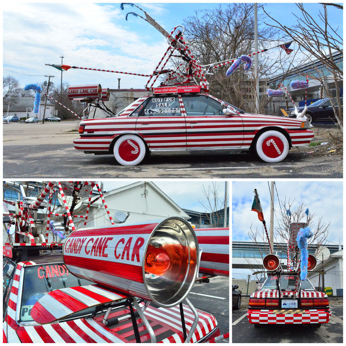 Candy Cane Car