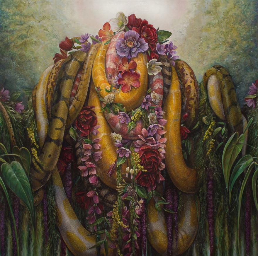 Intricate Erotic Paintings By Hannah Yata (NSFW)
