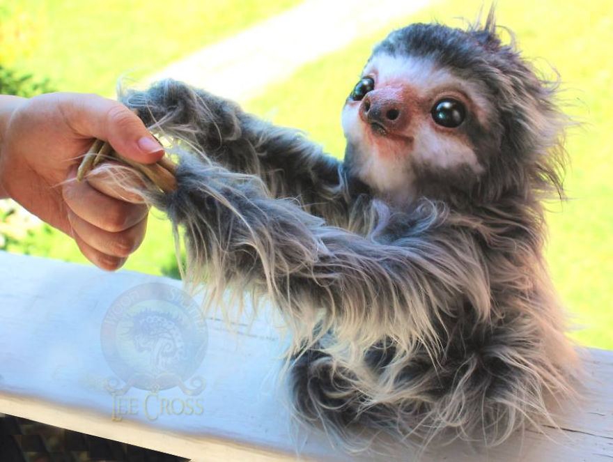 Poseable Baby Sloth