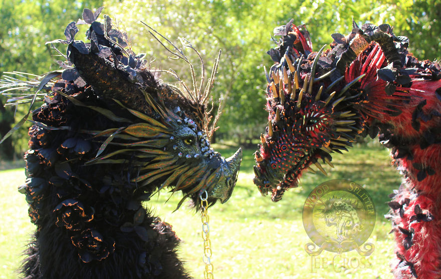 "Life Size Dragons! ""Flint"" And ""Rose"""