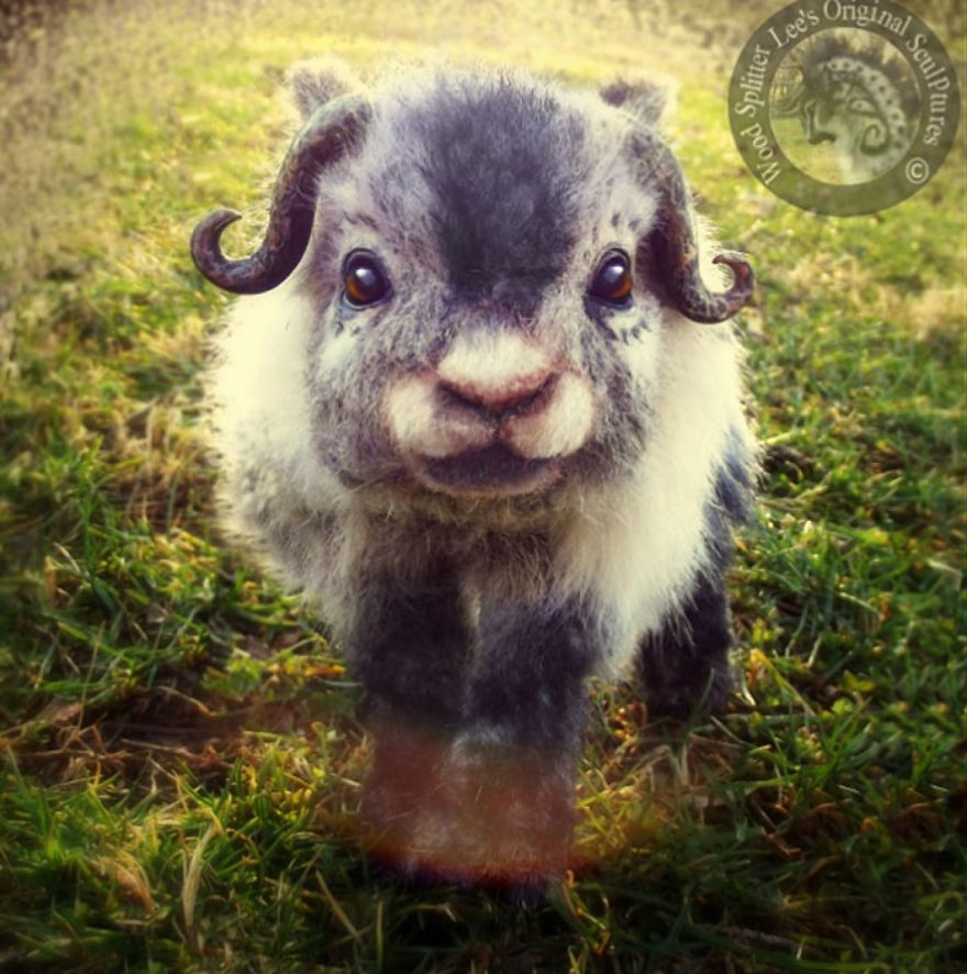 Poseable Fantasy Baby Muskox
