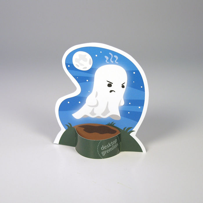 I Made A Grumpy Little Ghost For Your Desk