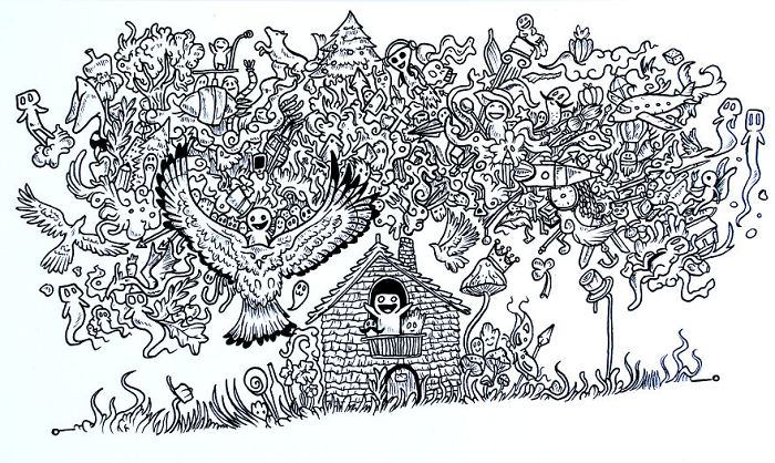 I Draw Surreal Black And White Worlds