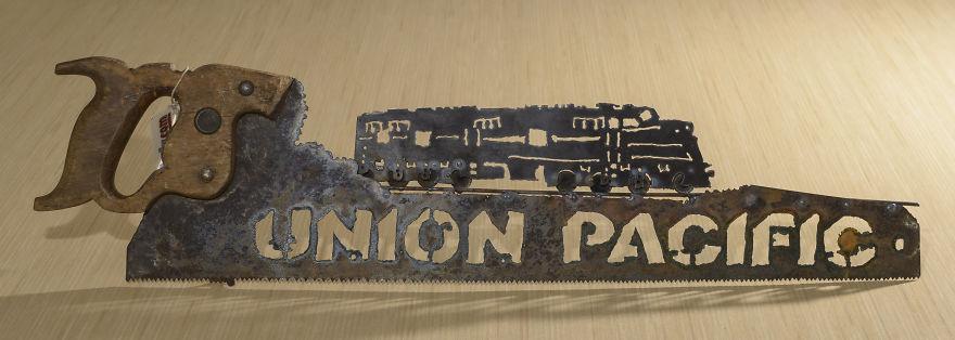 Tengo una gran cantidad de solicitudes de trenes de todo tipo, son mis diseños más populares de sierra, de lejos