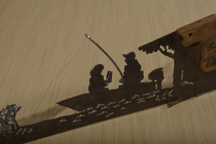 El barco de pesca es uno de mis diseños originales de los primeros 14 que he comprado