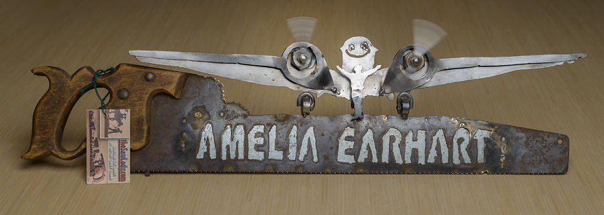 I Was Commissioned To Make This Saw For The Amelia Earhart Museum In Kansas