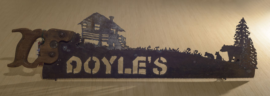 The Doyle's Cabin Saw Is A Great Example Of The Layered Saws That I Started Making