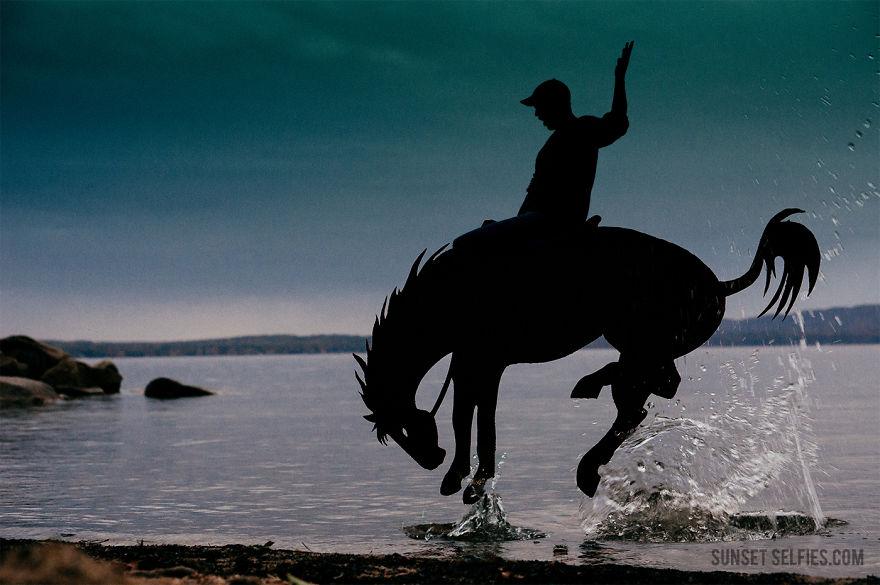 I Turn Simple Cardboard Cutouts Into Magical Horse Silhouettes