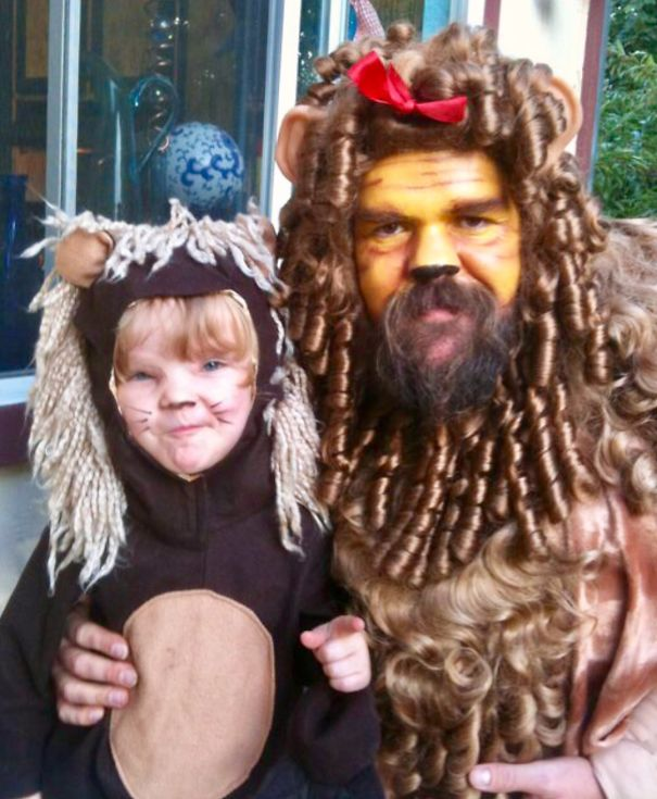The Cowardly Lion & His Little Lioness...