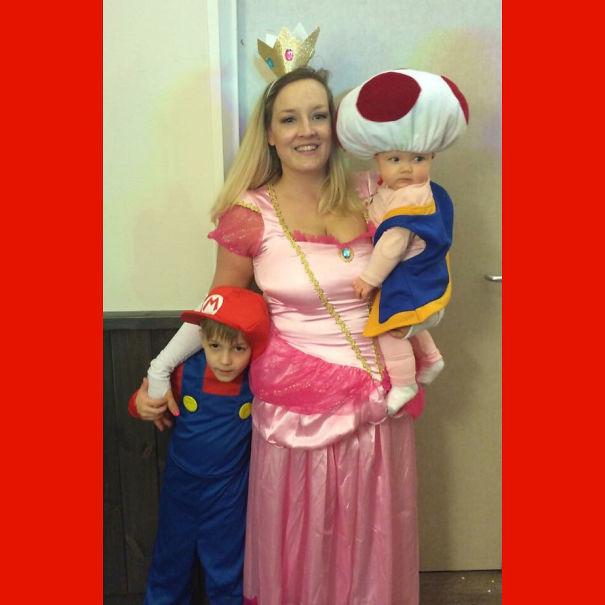 Peach, Mario And Adorable Toad.
