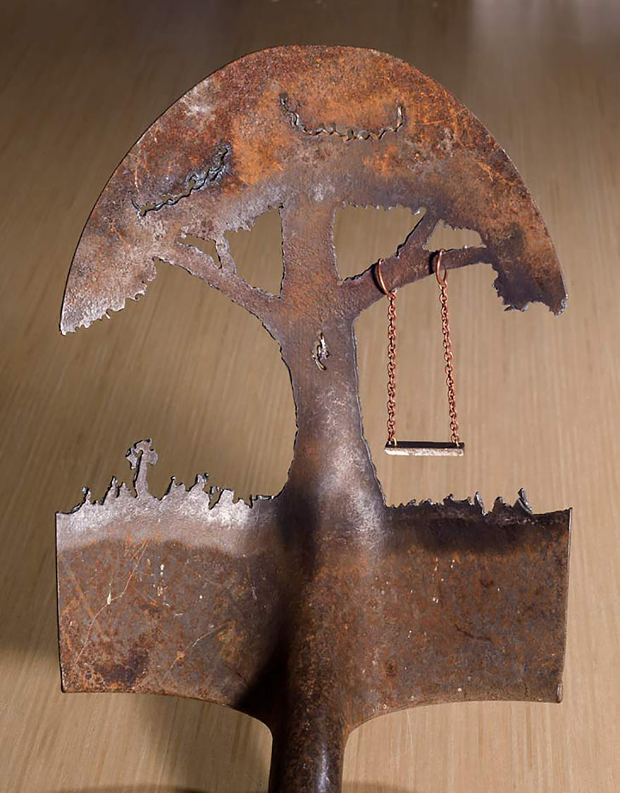 This Is The First Shovel That I Ever Made. I Used Copper Chain To Hang The Tree Swing
