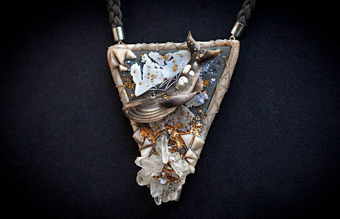Magical Jewelry And Creatures From Polymer Clay And Minerals