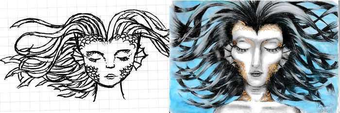 I Am A 13 Year Old Artist And Some Of My Best Artworks Are Inspired By Doodles From School