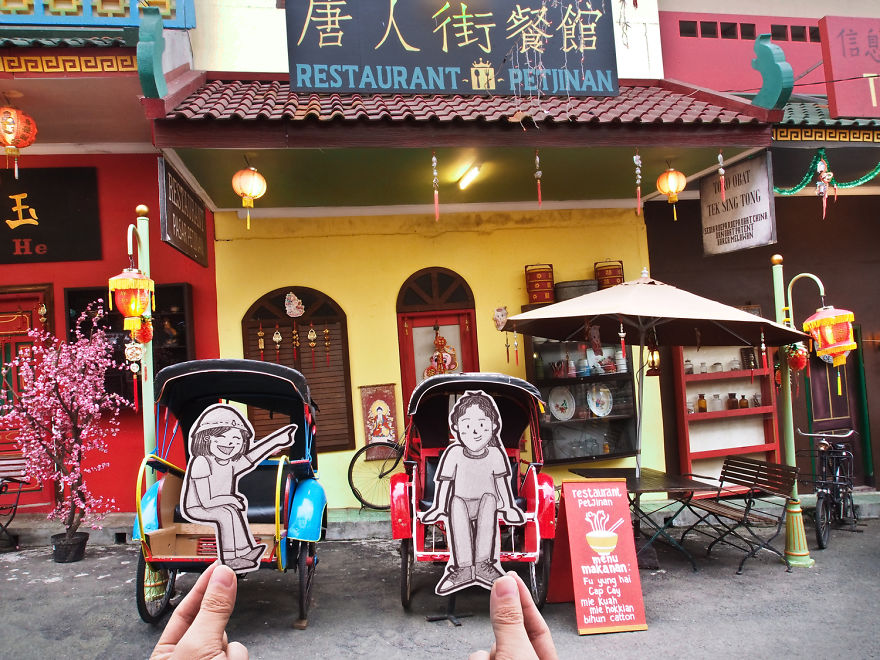 """becak"", A Cycle Rickshaw That Is Common In Some Area In Indonesia, Especially In Chinatown"