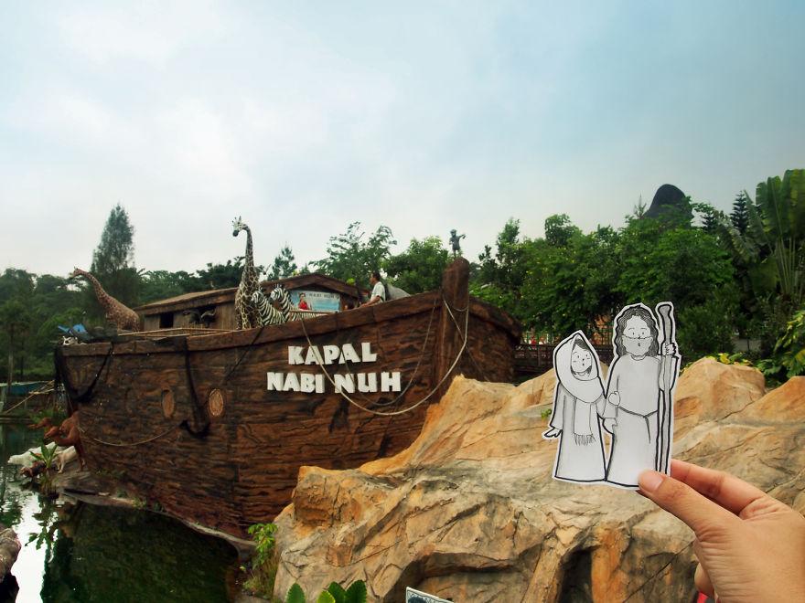 Abang & Neng As Noah & His Wife