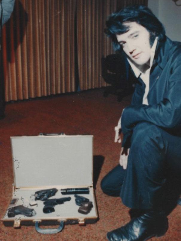 Elvis Presley And His Gun Collection